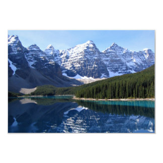 """Rocky Mountain Lake Country Wedding RSVP Cards 3.5"""" X 5"""" Invitation Card"""