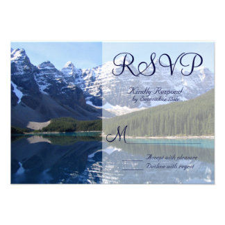 Rocky Mountain Lake Country Wedding RSVP Cards