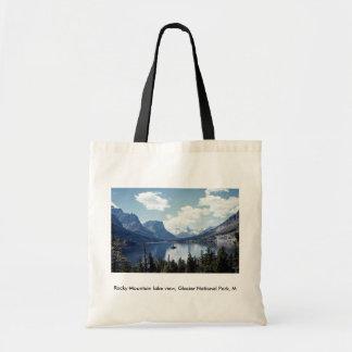 Rocky Mountain lake view, Glacier National Park, M