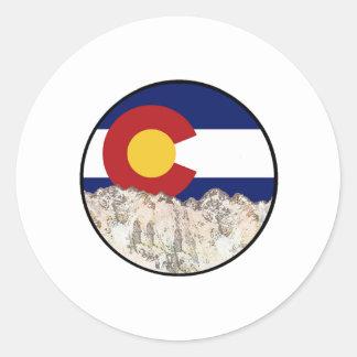 Rocky Mountain Love Classic Round Sticker