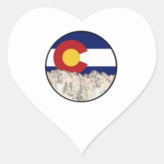 Rocky Mountain Love Heart Sticker
