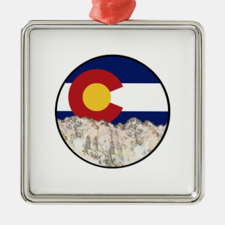 Rocky Mountain Love Metal Ornament