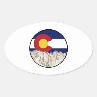 Rocky Mountain Love Oval Sticker