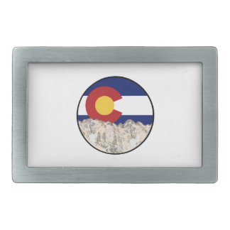 Rocky Mountain Love Rectangular Belt Buckle