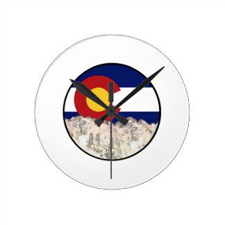 Rocky Mountain Love Round Clock