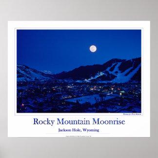Rocky Mountain Moonrise Poster