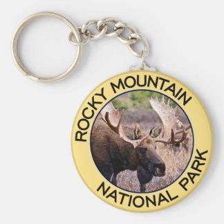 Rocky Mountain National Park Basic Round Button Keychain