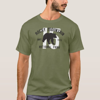 Rocky Mountain National Park Colorado Bear T-Shirt