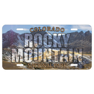 Rocky Mountain National Park Front License Plate