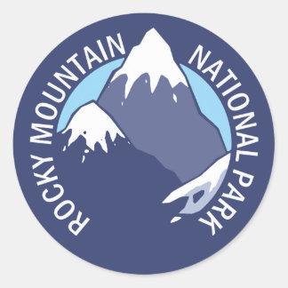 Rocky Mountain National Park Round Sticker