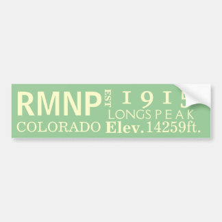 Rocky Mountain national park stats Bumper Sticker