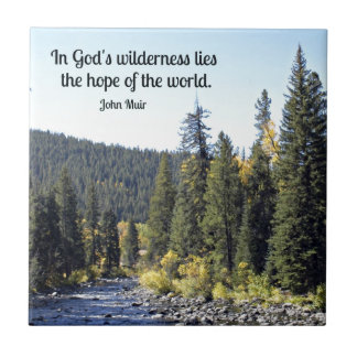 Rocky Mountain National Park with quote Tile