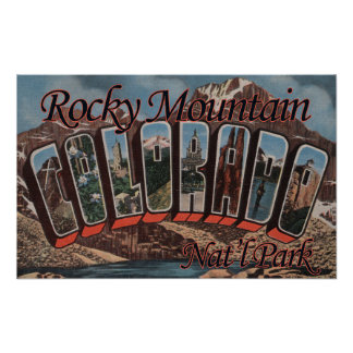 Rocky Mountain Nat'l Park, Colorado Poster