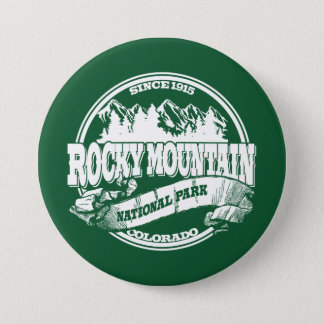 Rocky Mountain Old Circle Green 3 Inch Round Button