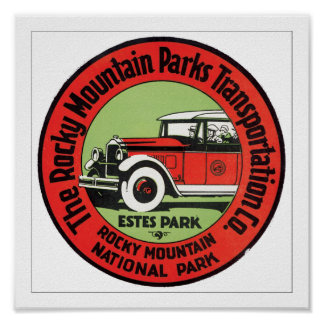 Rocky Mountain Parks Transportation Poster