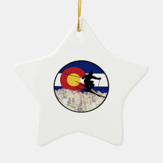 Rocky Mountain Pass Ceramic Ornament