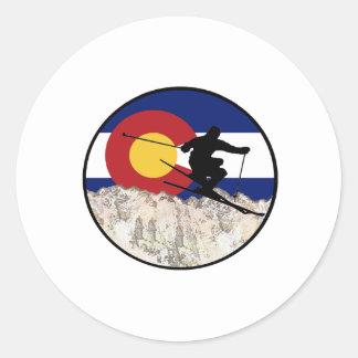 Rocky Mountain Pass Classic Round Sticker