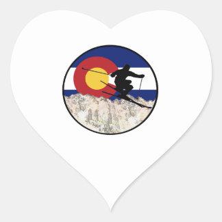 Rocky Mountain Pass Heart Sticker