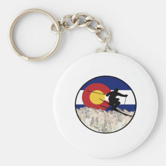 Rocky Mountain Pass Keychain