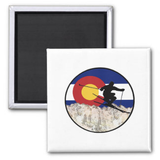 Rocky Mountain Pass Magnet