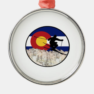 Rocky Mountain Pass Metal Ornament