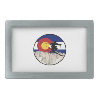 Rocky Mountain Pass Rectangular Belt Buckles