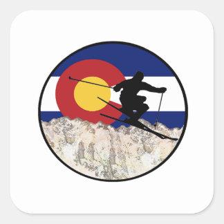 Rocky Mountain Pass Square Sticker