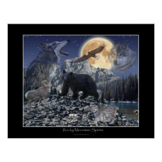 ROCKY MOUNTAIN SPIRITS Art Poster