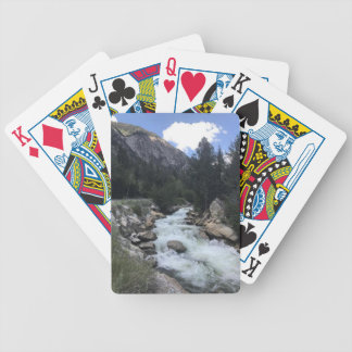 Rocky Mountain Stream Bicycle Playing Cards