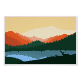 Rocky Mountain Sunrise Poster