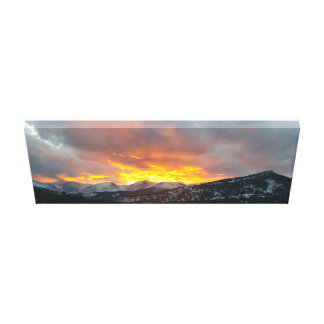 Rocky Mountain Sunset - 24x10 Canvas Print
