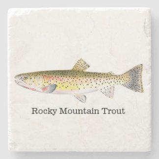 Rocky Mountain Trout Fish Stone Coaster