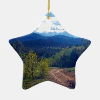 Rocky Mountain Wilderness Ceramic Ornament