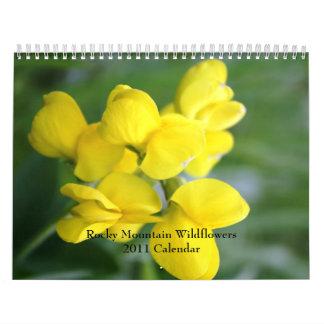 Rocky Mountain Wildflowers 2011 Calendar
