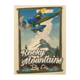 Rocky Mountains by Air! Wood Wall Art