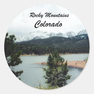 Rocky Mountains, Colorado Classic Round Sticker