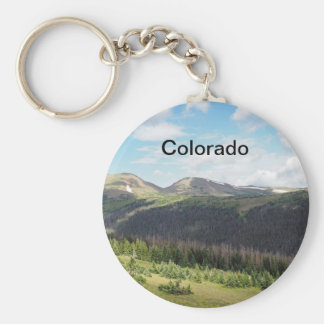 rocky mountains in Colorado Keychain