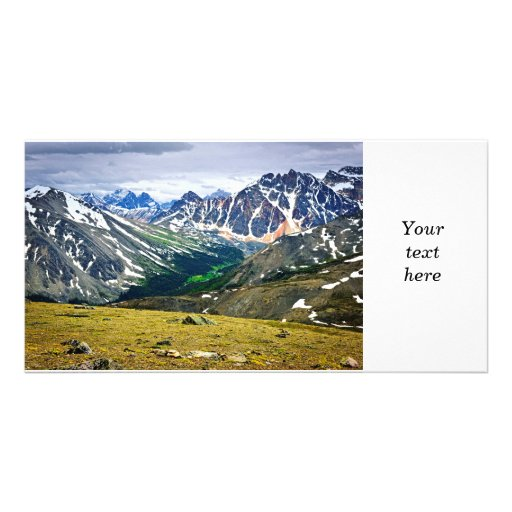 Rocky Mountains in Jasper National Park, Canada Picture Card