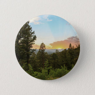 Rocky Mountains Sunset 2 Inch Round Button
