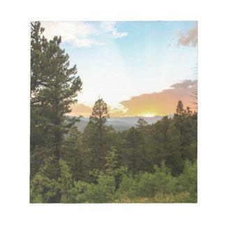 Rocky Mountains Sunset Notepad