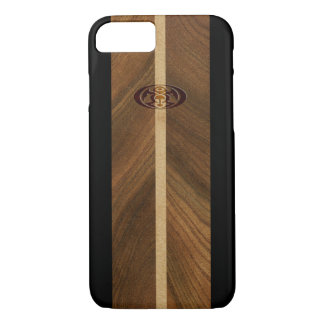 Rocky Point Hawaiian Faux Wood Surfboard iPhone 7 Case