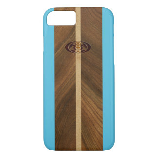 Rocky Point Hawaiian Faux Wood Surfboard iPhone 8/7 Case