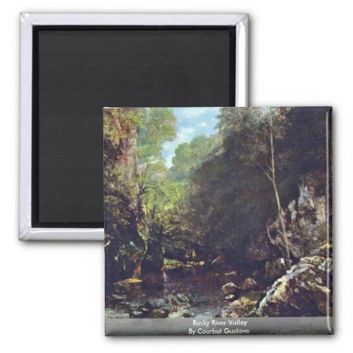 Rocky River Valley By Courbet Gustave Fridge Magnets