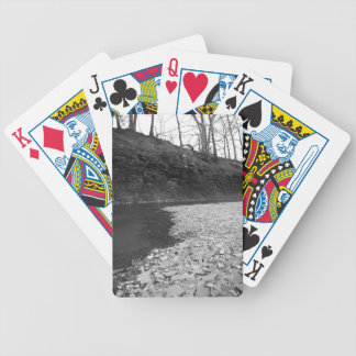 Rocky Riverbed Bicycle Playing Cards