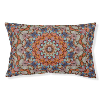 Rocky Roads Colorful  Vintage Kaleidoscope Dog Bed