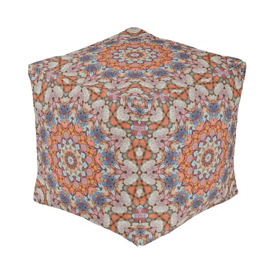 Rocky Roads  Colourful Cubed Pouf