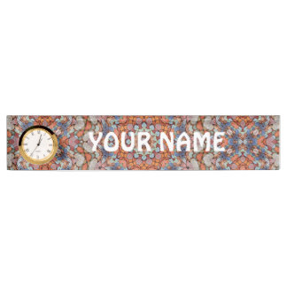 Rocky Roads Desk Nameplate with Clock