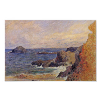 Rocky Sea Coast By Paul Gauguin (Best Quality) Poster