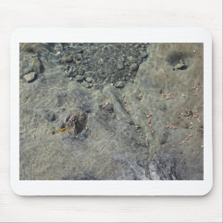 Rocky seabed through transparent sea water mouse pad