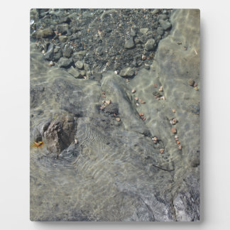 Rocky seabed through transparent sea water plaque